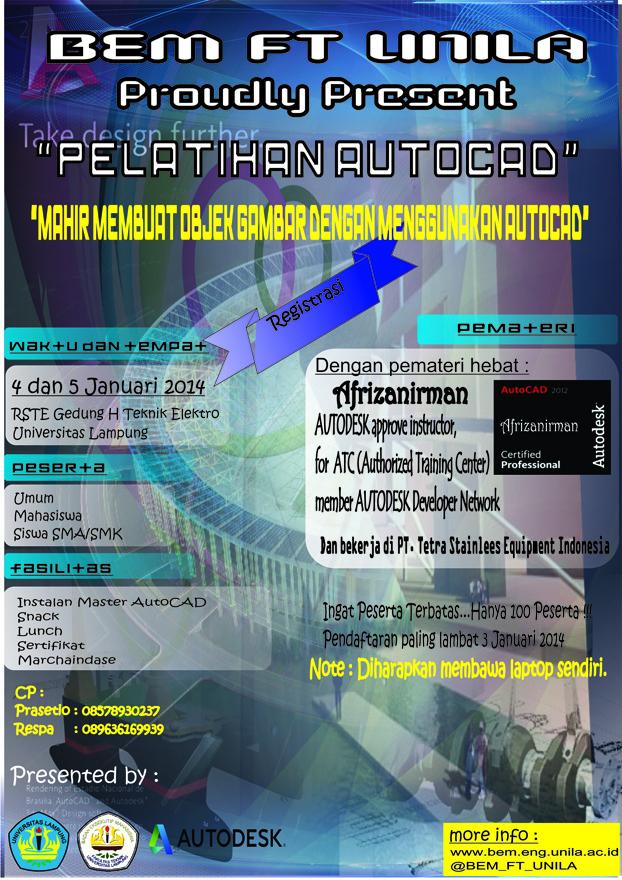 Pelatihan AutoCAD di UNILA | INDONESIAN DRAFTING SCHOOL
